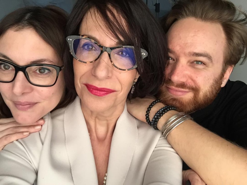 Post-makeup selfie with Julie and Simon.