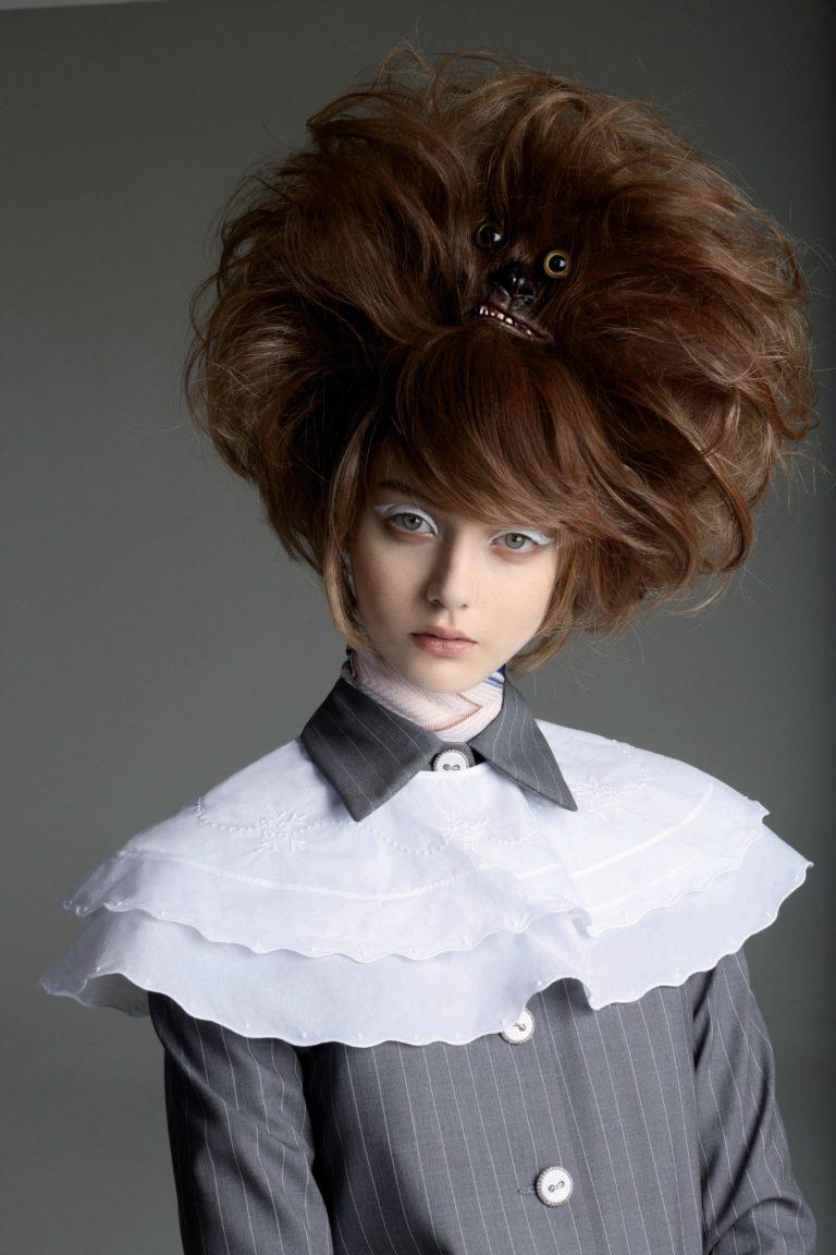 Hair creation by Charlie Le Mindu. Photo Alice Rosati