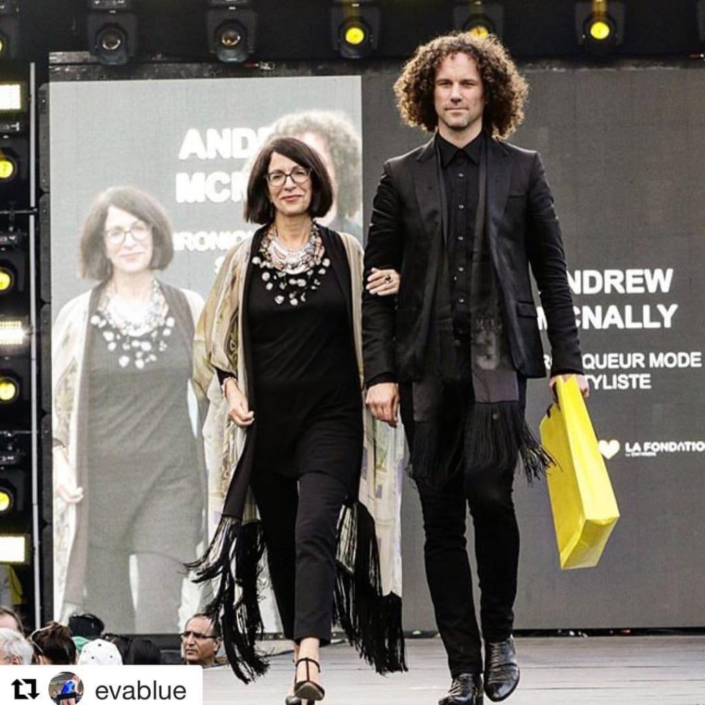 Me and Andrew McNally on the catwalk for Reluxe. Photo Eva Blue