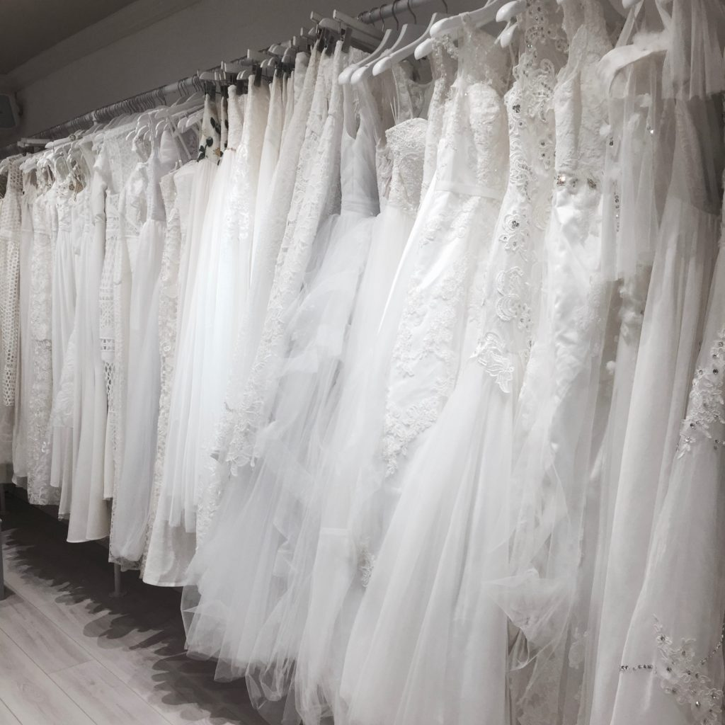 Frothy wedding gowns at Boudoir 1861.