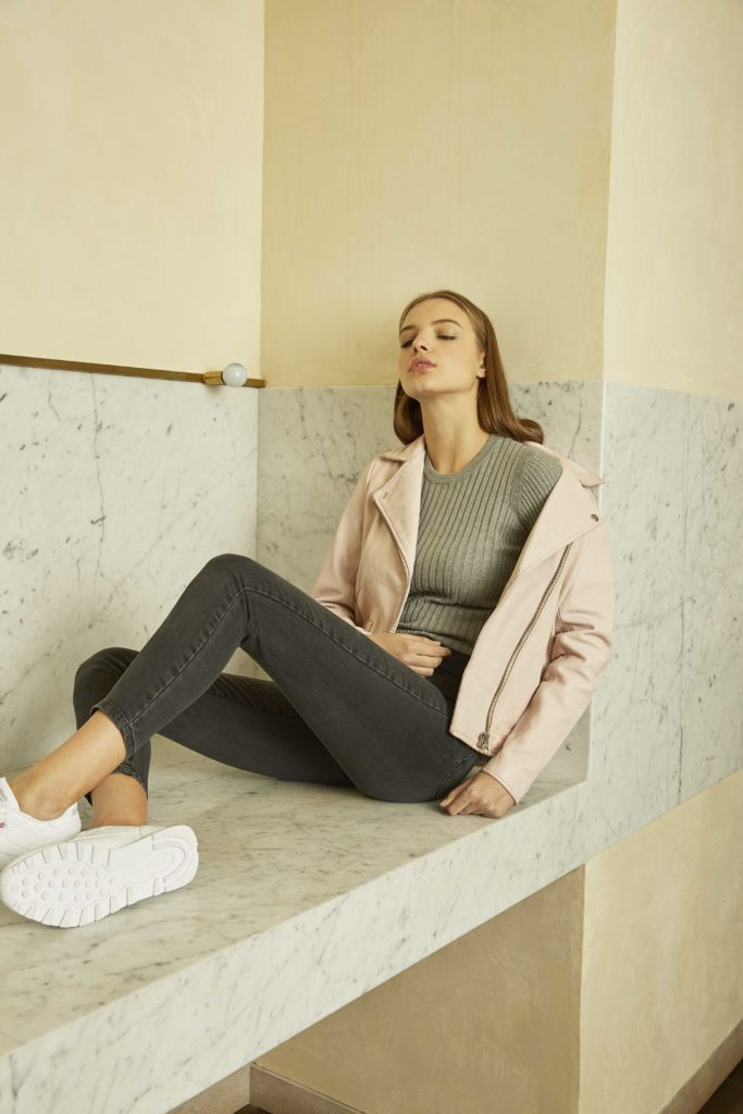 The blush perfecto in Frank + Oak campaign shot.